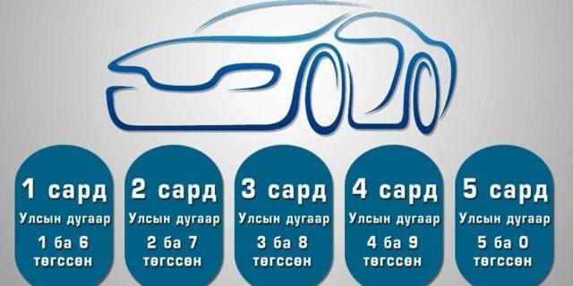 Авто машин 3,8-аар төгссөн дугаартай бол...